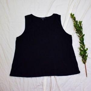 Eileen Fisher Black Silk Basic Tank Top B09